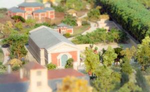 Maquette de reconstitution historique du Jardin des Plantes au 19e siècle