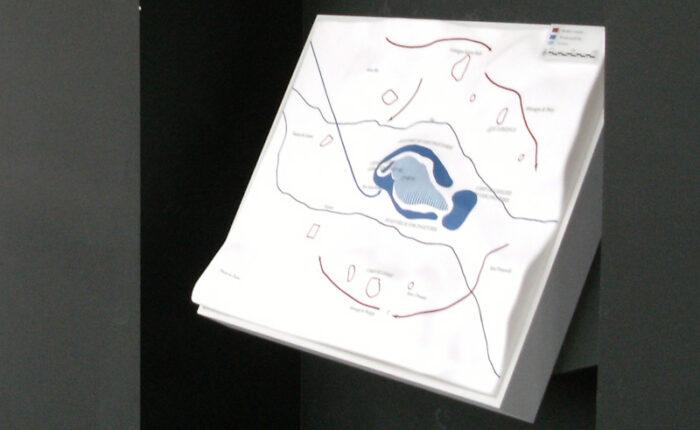 Maquette pédagogique thermoformée rétroéclairée de la -bataille de Gergovie