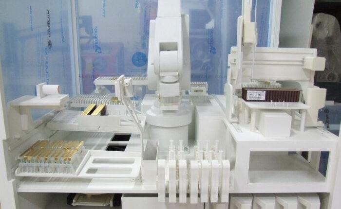 Maquette d'étude d'un process robotisé