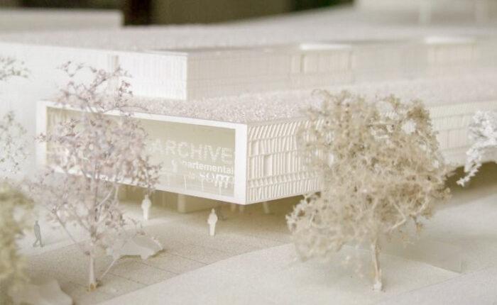 Maquette blanche de concours des archives départementales de la somme