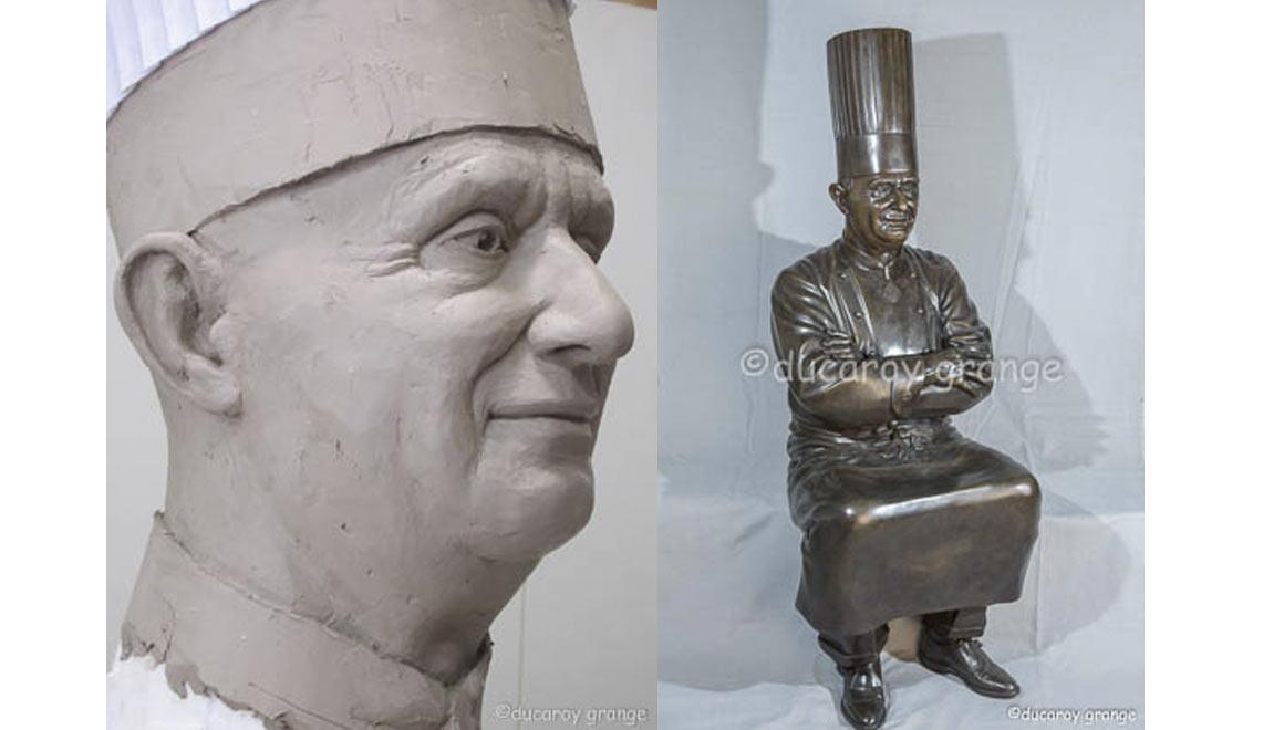 sculpture modèle vivant Paul Bocuse