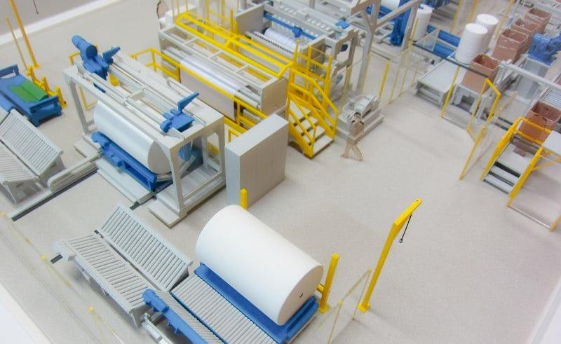 Maquette d'exposition de process : des machines spécifiques pour l'industrie de transformation