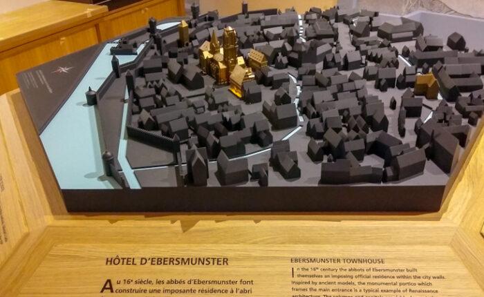 Maquette de reconstitution historique de Sélestat à la Renaissance - Bibliothèque Humaniste de Sélestat