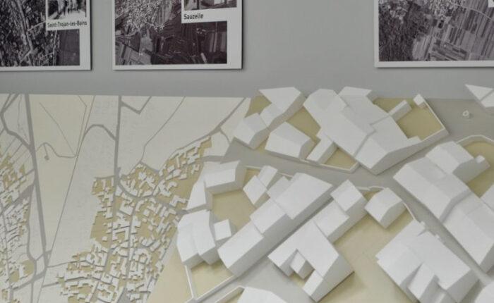 Maquettes d'urbanisme représentant des villages de l'Ile d'Oléron