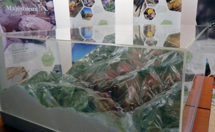 Maquette topographique des Gorges de Daluis