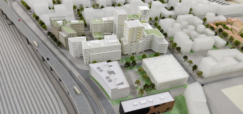 Maquette d'urbanisme d'Euroméditerranée - Marseille