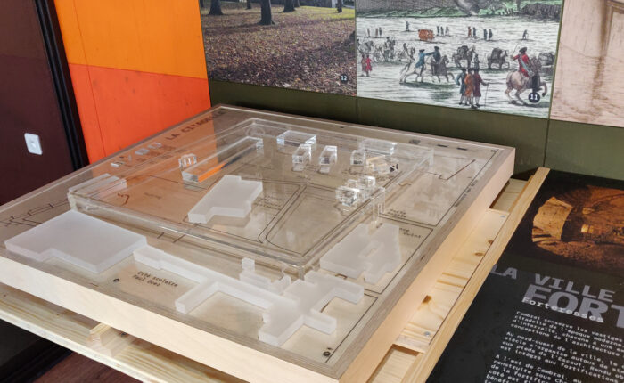 Maquette de reconstitution historique de la Citadelle de Cambrai