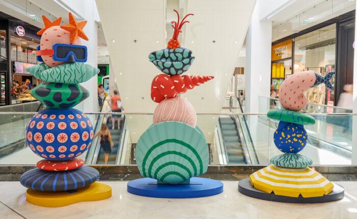 Sculptures mer et coquillages - d'après les dessins de Perrine Honoré
