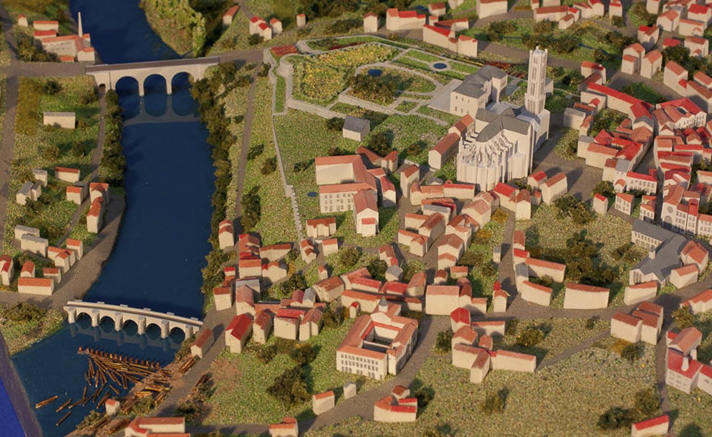 Plan-relief de Limoges - Maquette réalisée pour le Musée des Beaux-arts