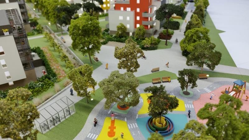 Maquette architecturale de promotion immobilière - Parc des Toriolets à Meythet