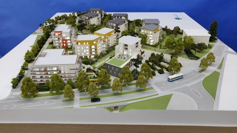 Maquette d'architecture de l'aménagement du Parc des Toriolets à Meythet