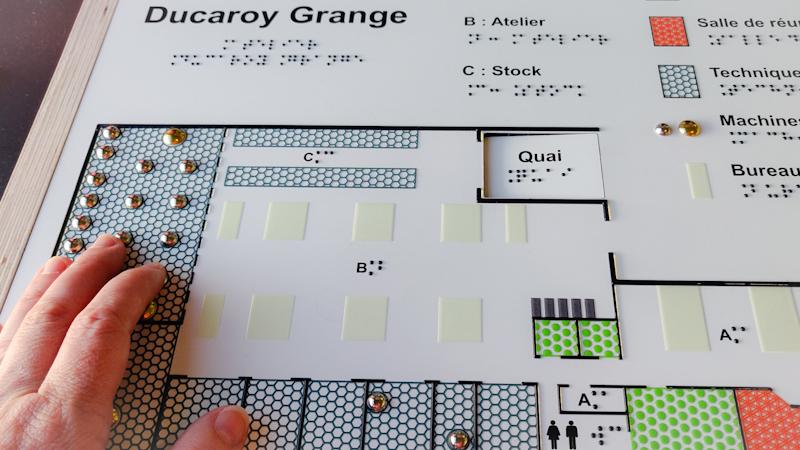 Plan tactile de l'atelier Ducaroy Grange