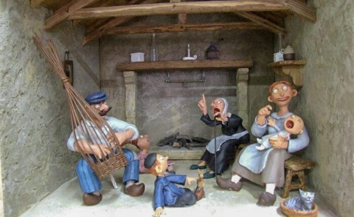 Diorama - Décor miniature sur le monde paysan au début du 20e siècle