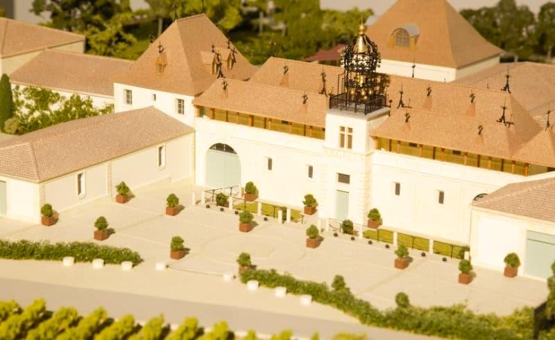 Maquette architecturale d'exposition de Château Angélus - Vue de détail