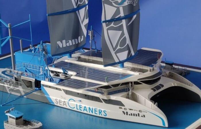 Maquette du bateau-usine Le Manta - The SeaCleaners
