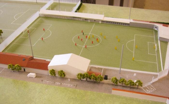 Maquette du football club de Parcieux