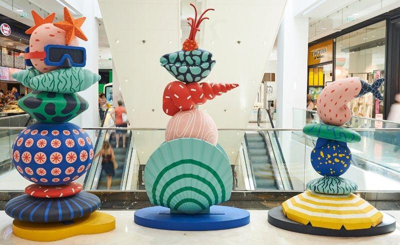 Sculptures modernes mer et coquillages - D'après les dessins de Perrine Honoré