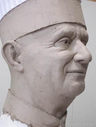 Sculpture à l'échelle 1 de Paul BOCUSE - Travail en cours
