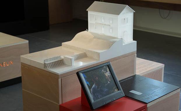 Maquette de restitution de la Maison éclusière de Trévoux (01)
