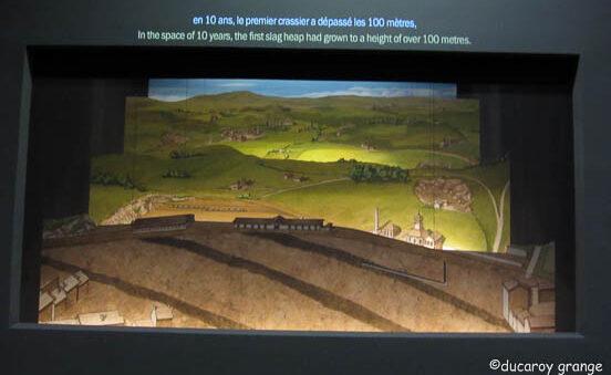 Théâtre animée de l'évolution des paysages du site minier Puits Couriot à Saint-Etienne (42)