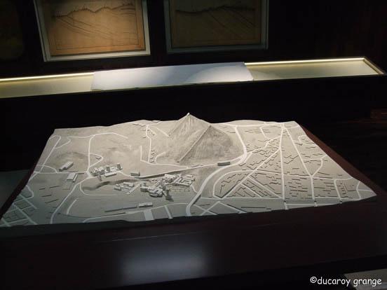 Maquette au 1/700 du site minier Puits Couriot à Saint-Etienne (42)