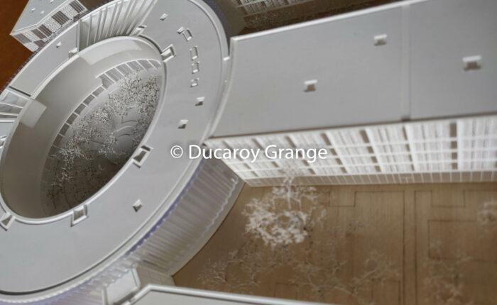 Maquette d'urbanisme de la ZAC du Moulon - Maquette blanche avec impression 3D