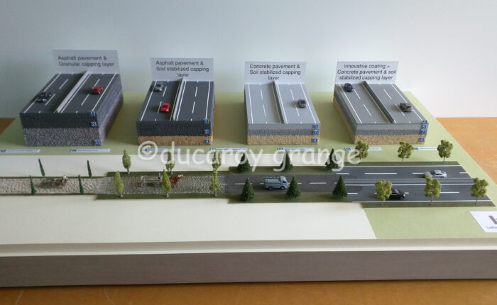 Maquette industrielle didactique de revêtements routiers