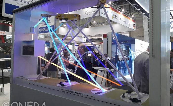 Maquette animée industrielle exposée au Salon du Bourget - GRAVES : système européen de veille spatiale de l'ONERA