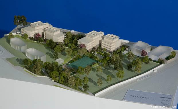 """Maquette architecturale de promotion d'une résidence immobilière """"Lugdunum"""" au 1/333"""