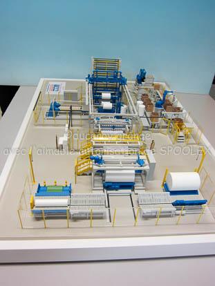 Maquette industrielle de process au 1/33 : cellule de coupe