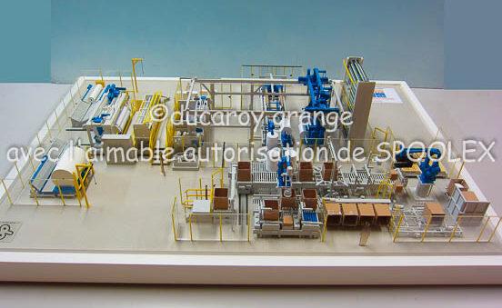 Maquette industrielle de process au 1/33