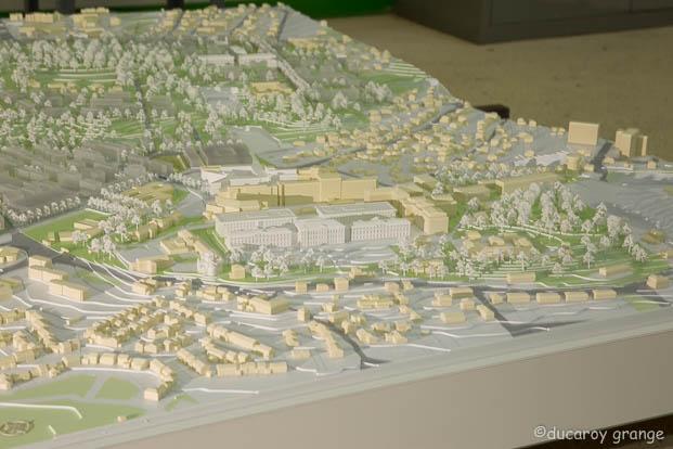 Maquette du Site du Vallon des Hôpitaux au 1/1000