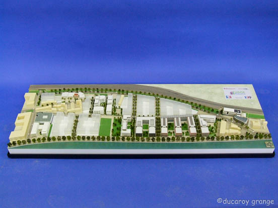 Maquette au 1/500 de l'aménagement de la ZAC Vaise Industrie nord à Lyon (69)