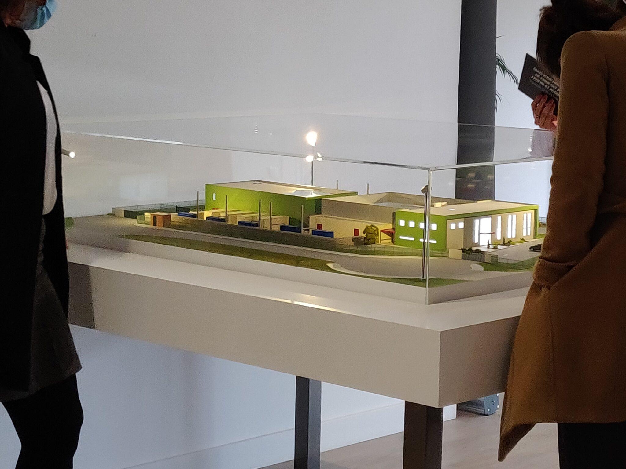 Maquette industrielle des datacenters Nexeren du Groupe Xefi - Vue en écorché du process