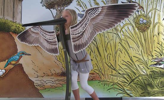 Création de décors - Structure d'oiseau pour selfie - Parc Terres d'Oiseaux