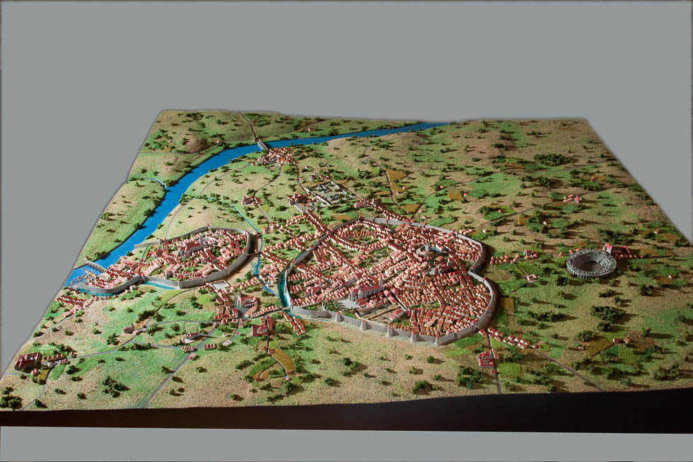 Maquette au 1/1500 de l'évolution de la ville de Limoges